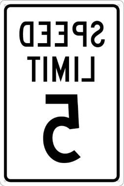 Traffic Sign, Speed Limit 5, Funny Yard Decorative Signs for