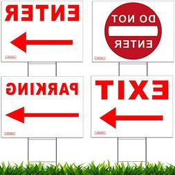 Traffic Sign Kit Stands - DO NOT Enter, Parking, Enter EXIT