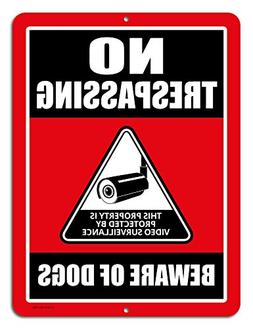 No Trespassing Signs This Property Is Protected By Video Sur