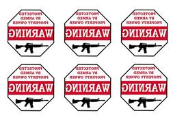 No Trespassing Warning Security Sticker Protected By Armed P