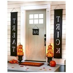 Trick or Treat Halloween Banner 3-Pc Set Home or Office Deco