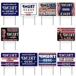 "Trump 2020 10 Pack Yard Sign - Each is 24"" x 18"" and come wi"