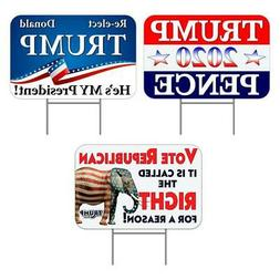 """Trump 2020 3 Pack Yard Sign  - Each is 24"""" x 16""""  One S"""