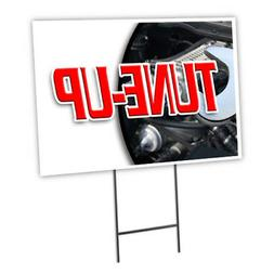 TUNE-UP Yard Sign & Stake outdoor plastic coroplast window