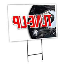 "TUNE-UP 12""x16"" Yard Sign & Stake outdoor plastic coroplast"