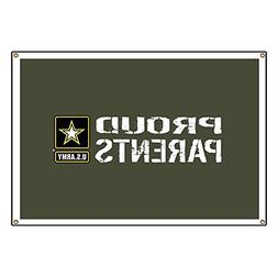 "CafePress U.S. Army: Proud Parents  Vinyl Banner, 44""x30"" Ha"