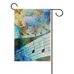 U LIFE Music Colorful Signs Garden Yard Flag Banner for Outs