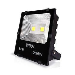 WEDO 100W Ultra Bright Outdoor LED Flood Light Scale-Like Re