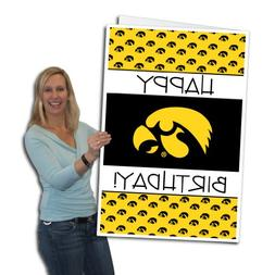 University of Iowa Hawkeyes 2'x3' Giant Birthday Greeting Ca