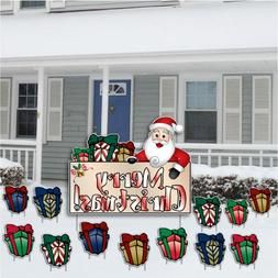 VictoryStore Yard Sign Outdoor Lawn Decorations - Merry Chri