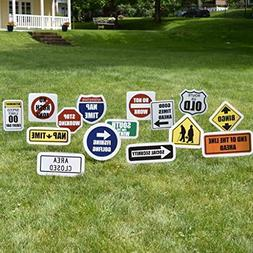 VictoryStore Yard Sign Outdoor Lawn Decorations: Retirement