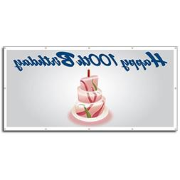 VictoryStore Yard Sign Outdoor Lawn Decorations: Happy 100th