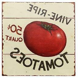 Barnyard Designs Vine Ripe Tomatoes Retro Vintage Tin Bar Si
