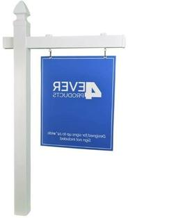 4EVER Vinyl PVC Real Estate Sign Post - White