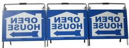 Vinyl PVC Real Estate Yard Sign Post Open House Sign A-Frame