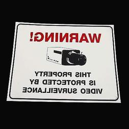 WARNING SECURITY CCTV VIDEO CAMERAS IN USE HOUSE YARD SIGN I