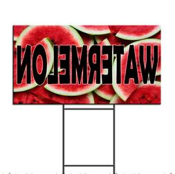 Watermelon Corrugated Plastic Yard Sign /FREE Stakes