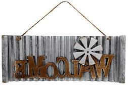 S.T.C. Welcome Cutout Wood On Metal Home Business Sign for W