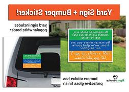 Welcome Your Neighbors Yard Sign + Bumper Sticker Combo Pack