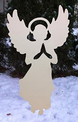 "Design House White Angel Silhouette Lawn Decoration, 20"" x 3"