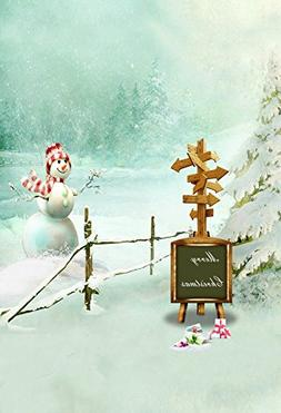 Baocicco 5x7ft Winter Scene Snow Day Backdrop Merry Christma