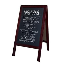 "Wooden A-Frame Sign with Eraser & Chalk - 40"" x 20"" Magnetic"