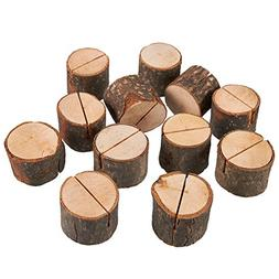 Juvale Wooden Place Card Holder - 12-Pack Wedding Table Numb