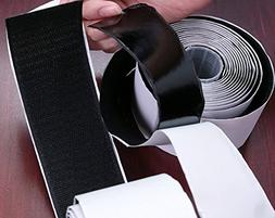 "1.5""  X yards Black Self Adhesive Hook and Loop 25mm Sticky"