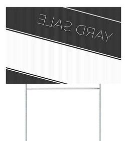 CGSignLab |Yard Sale -Basic Black Double-Sided Corrugated Pl