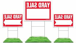 3-Pack Yard Sale Sign Kit - Double Sided Signs & H-Stakes -