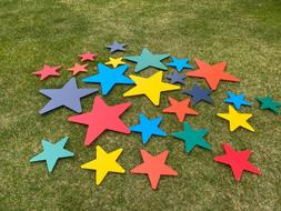 yard letters star package 24 stars plastic