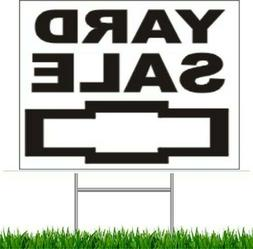 """Yard Sale  Large Outdoor 24""""x18"""" Land Yard Sign With Wire St"""
