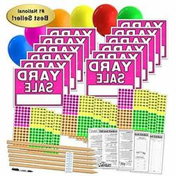 Yard Sale Sign & Poster Kits With Pricing Labels And Wood St