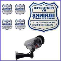 Yard Sign 4 Security Stickers Decals & Fake Dummy Camera CCT