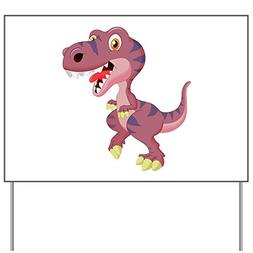 Yard Sign Cute Purple T-Rex Dinosaur
