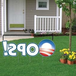 VictoryStore Yard Sign Outdoor Lawn Decorations, Oops! Anti-