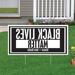 VictoryStore Yard Sign Outdoor Lawn Decorations: Black Lives