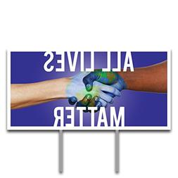 VictoryStore Yard Sign Outdoor Lawn Decorations: All Lives M
