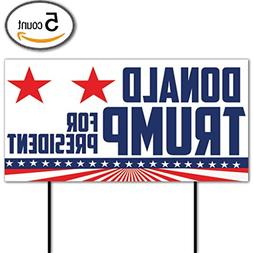 "VictoryStore Yard Sign Outdoor Lawn Decorations: ""Donald Tru"