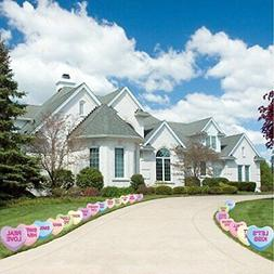VictoryStore Yard Sign Outdoor Lawn Decorations: Candy Heart