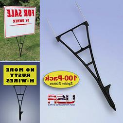 Yard Sign Stakes - H-Wire Yard Stakes Alternative - 100-PACK