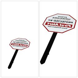Yard Sign White Weather Resistant PVC Video Security Surveil
