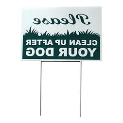 Yard Signs, lawn signs, garden signs , no dog poop sign - si