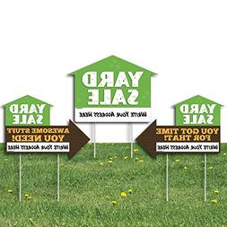 Big Dot of Happiness Yard Sale Signs - Yard Sign with Stakes