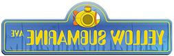 SignMission Yellow Submarine Street Sign | Indoor/Outdoor |