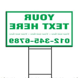 Your Text Here Custom Corrugated Plastic Yard Sign /Free Sta